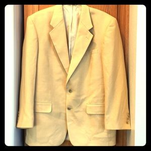 Macy's Men's Yellow Silk/Wool Blazer 40 R